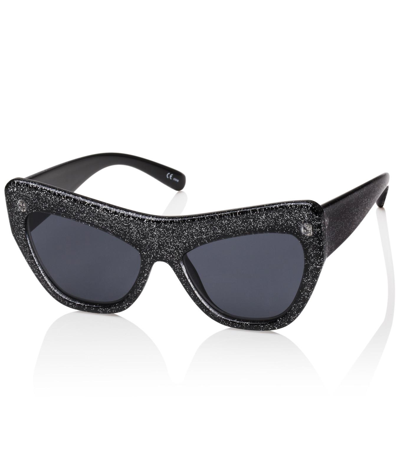 Adam Selman×Le Specs(アダム・セルマン×ル・スペックス)のPlaygirl -Black Glitter / Smoke Mono--GUNMETAL(アイウェア/eyewear)-1502065-6 拡大詳細画像1