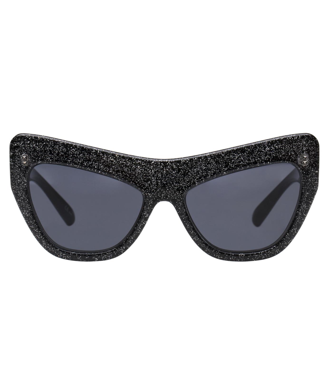 Adam Selman×Le Specs(アダム・セルマン×ル・スペックス)のPlaygirl -Black Glitter / Smoke Mono--GUNMETAL(アイウェア/eyewear)-1502065-6 拡大詳細画像2
