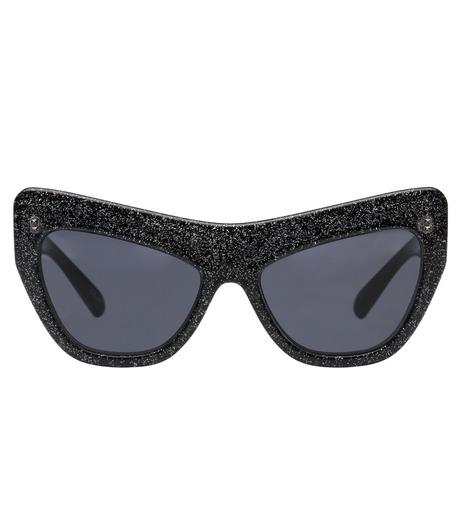 Adam Selman×Le Specs(アダム・セルマン×ル・スペックス)のPlaygirl -Black Glitter / Smoke Mono--GUNMETAL(アイウェア/eyewear)-1502065-6 詳細画像2