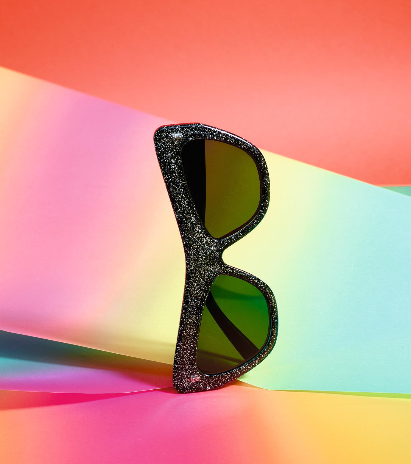 Adam Selman×Le Specs(アダム・セルマン×ル・スペックス)のPlaygirl -Black Glitter / Smoke Mono--GUNMETAL(アイウェア/eyewear)-1502065-6 拡大詳細画像3