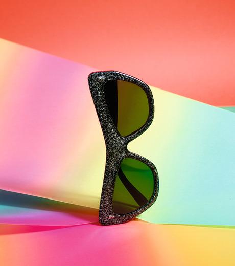 Adam Selman×Le Specs(アダム・セルマン×ル・スペックス)のPlaygirl -Black Glitter / Smoke Mono--GUNMETAL(アイウェア/eyewear)-1502065-6 詳細画像3
