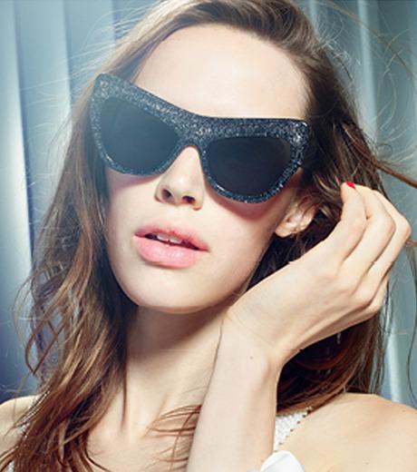 Adam Selman×Le Specs(アダム・セルマン×ル・スペックス)のPlaygirl -Black Glitter / Smoke Mono--GUNMETAL(アイウェア/eyewear)-1502065-6 詳細画像4