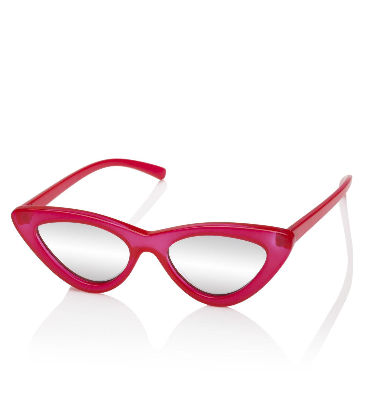 Adam Selman×Le Specs(アダム・セルマン×ル・スペックス)のThe Last Lotita -Opaque Red / Silver Mirror--RED(アイウェア/eyewear)-1502112-62 拡大詳細画像1