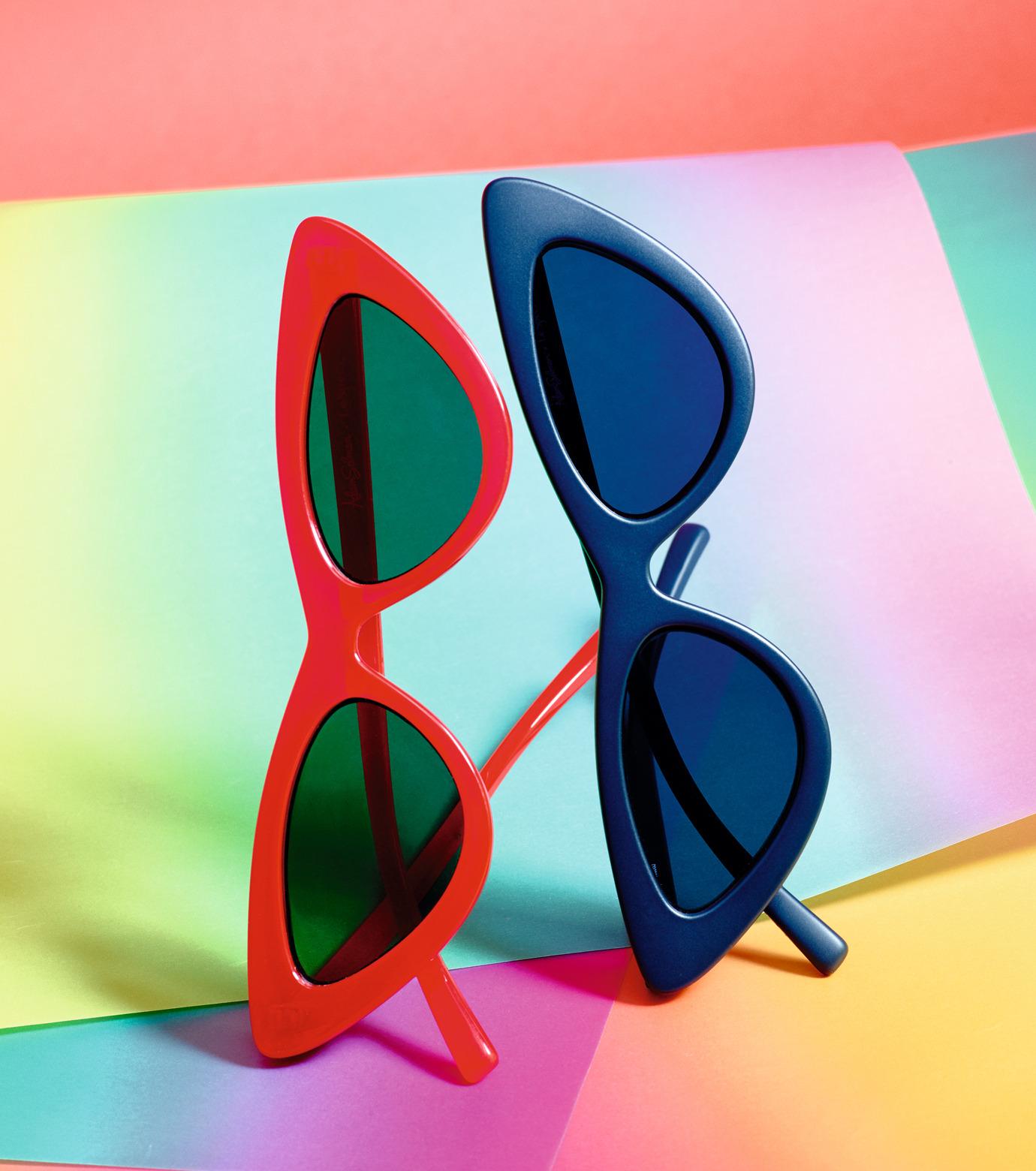 Adam Selman×Le Specs(アダム・セルマン×ル・スペックス)のThe Last Lotita -Opaque Red / Silver Mirror--RED(アイウェア/eyewear)-1502112-62 拡大詳細画像3