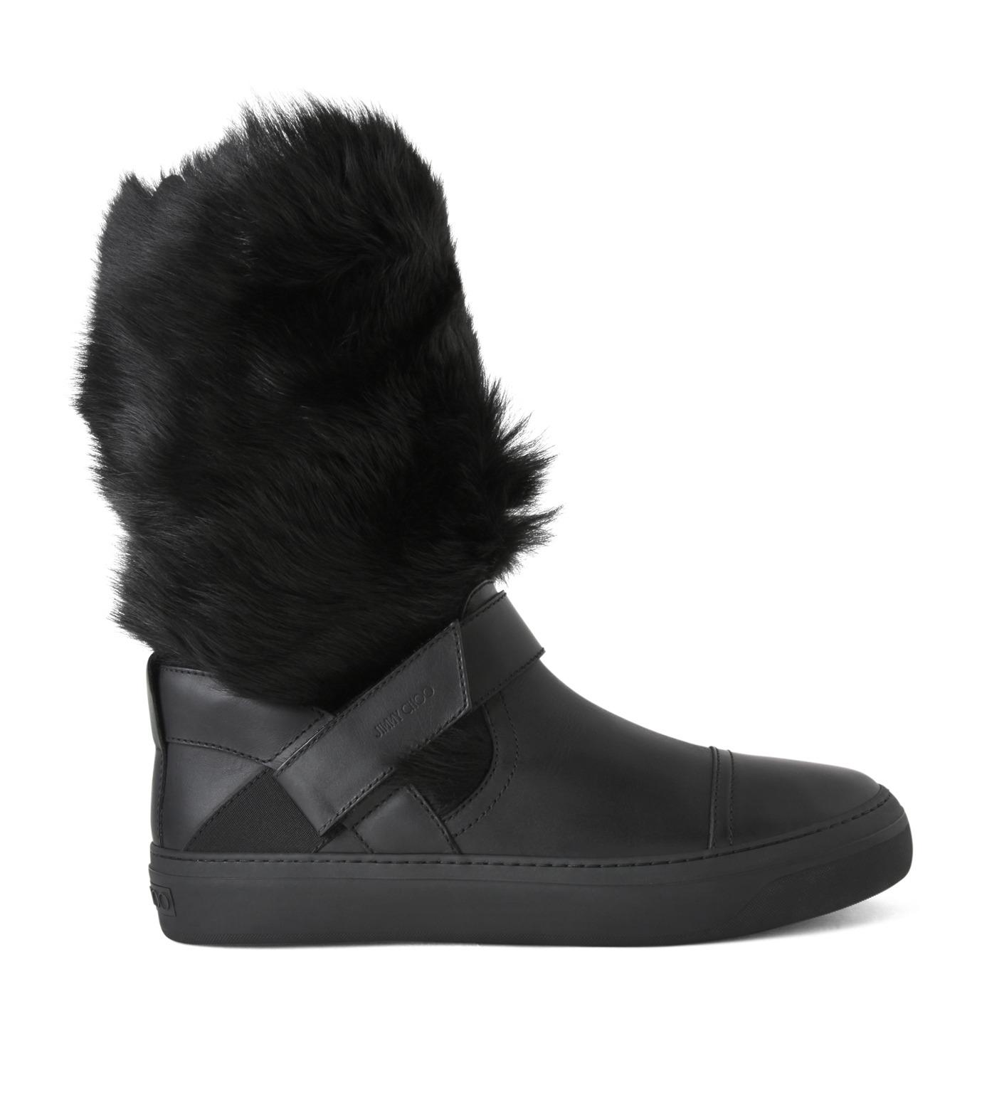 Jimmy Choo(ジミーチュウ)のFur Boots-BLACK(ブーツ/boots)-152BARRY-LWF-13 拡大詳細画像1