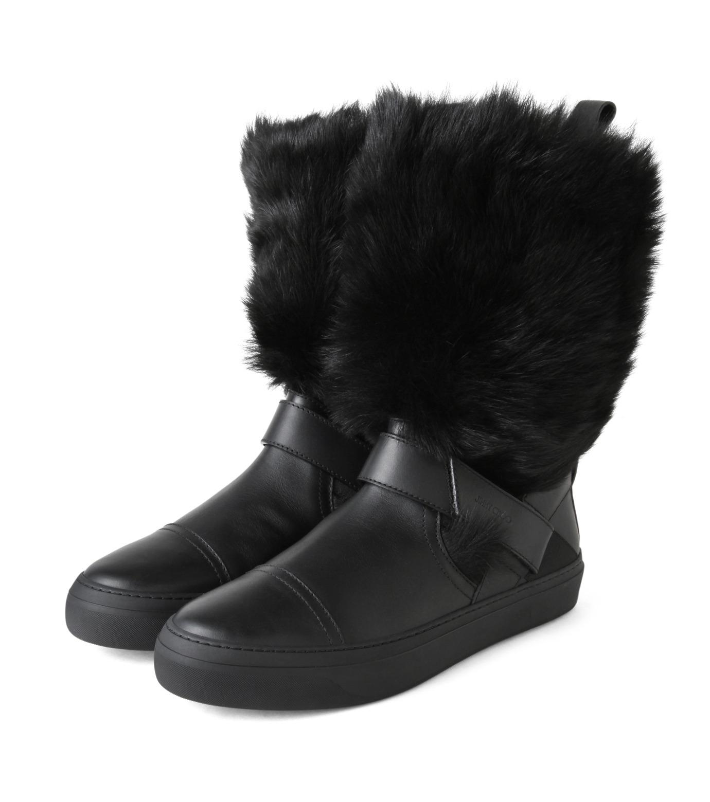 Jimmy Choo(ジミーチュウ)のFur Boots-BLACK(ブーツ/boots)-152BARRY-LWF-13 拡大詳細画像4