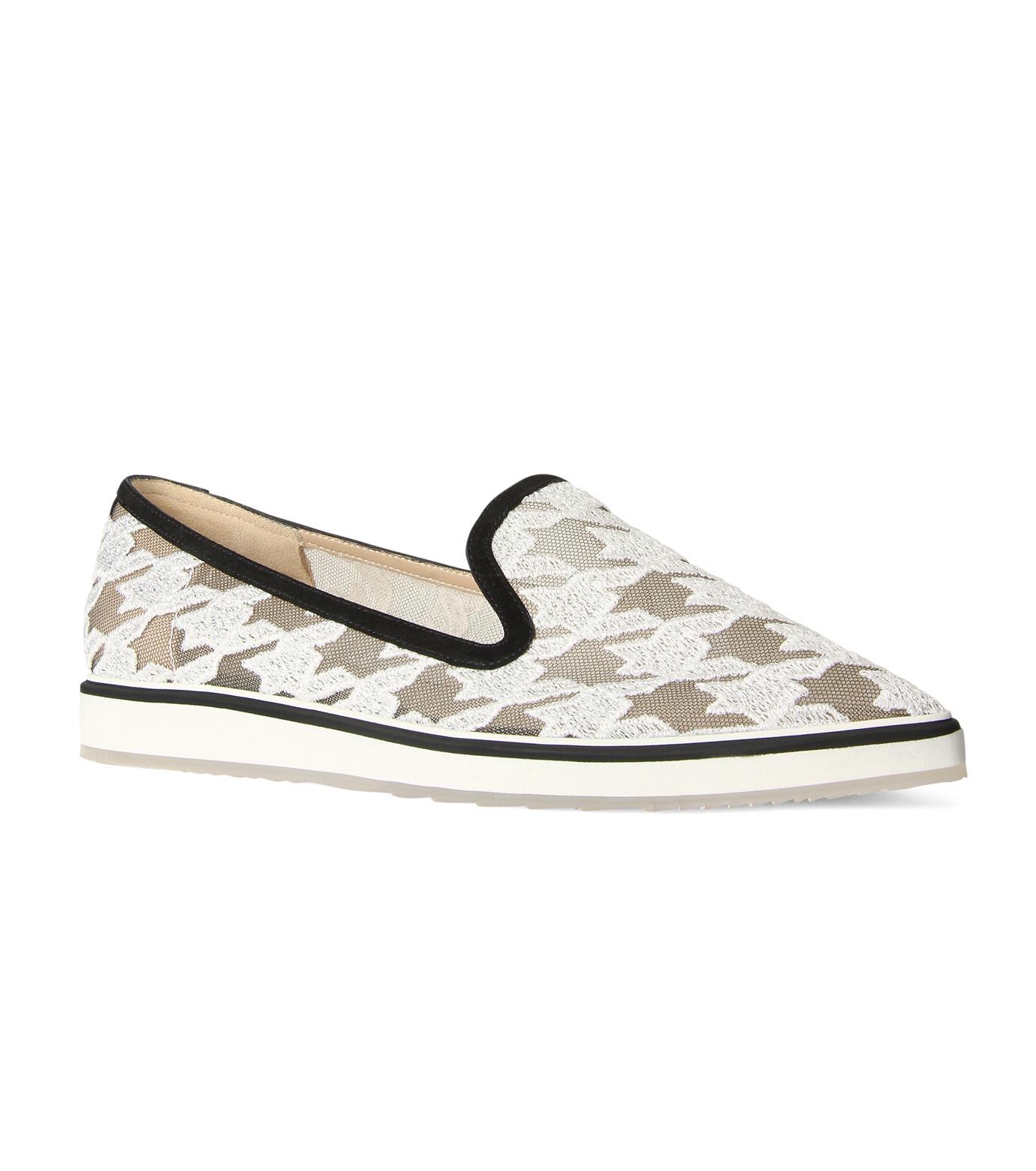 Nicholas  Kirkwood(ニコラス カークウッド)の35mm Alona Lace Loafer-WHITE(フラットシューズ/Flat shoes)-15A093-4 拡大詳細画像1