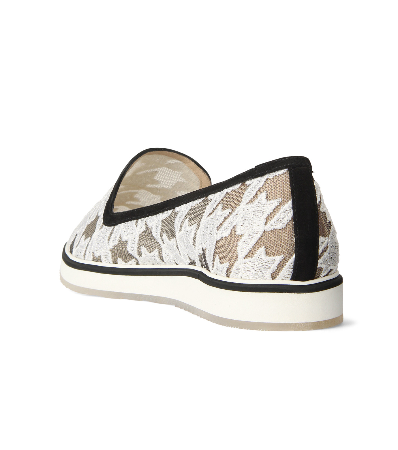 Nicholas  Kirkwood(ニコラス カークウッド)の35mm Alona Lace Loafer-WHITE(フラットシューズ/Flat shoes)-15A093-4 拡大詳細画像2