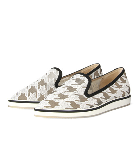 Nicholas  Kirkwood(ニコラス カークウッド)の35mm Alona Lace Loafer-WHITE(フラットシューズ/Flat shoes)-15A093-4 詳細画像3