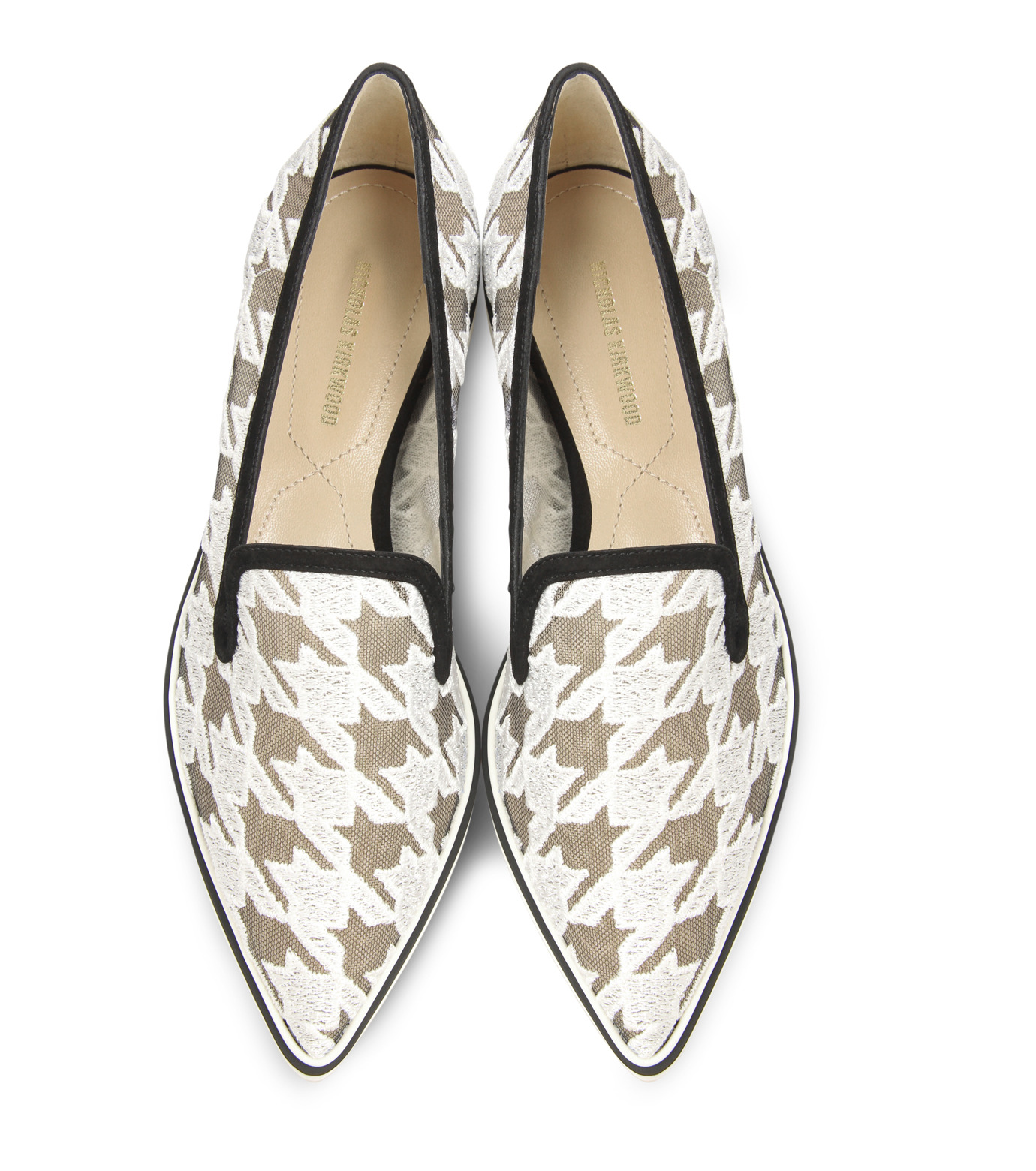 Nicholas  Kirkwood(ニコラス カークウッド)の35mm Alona Lace Loafer-WHITE(フラットシューズ/Flat shoes)-15A093-4 拡大詳細画像4