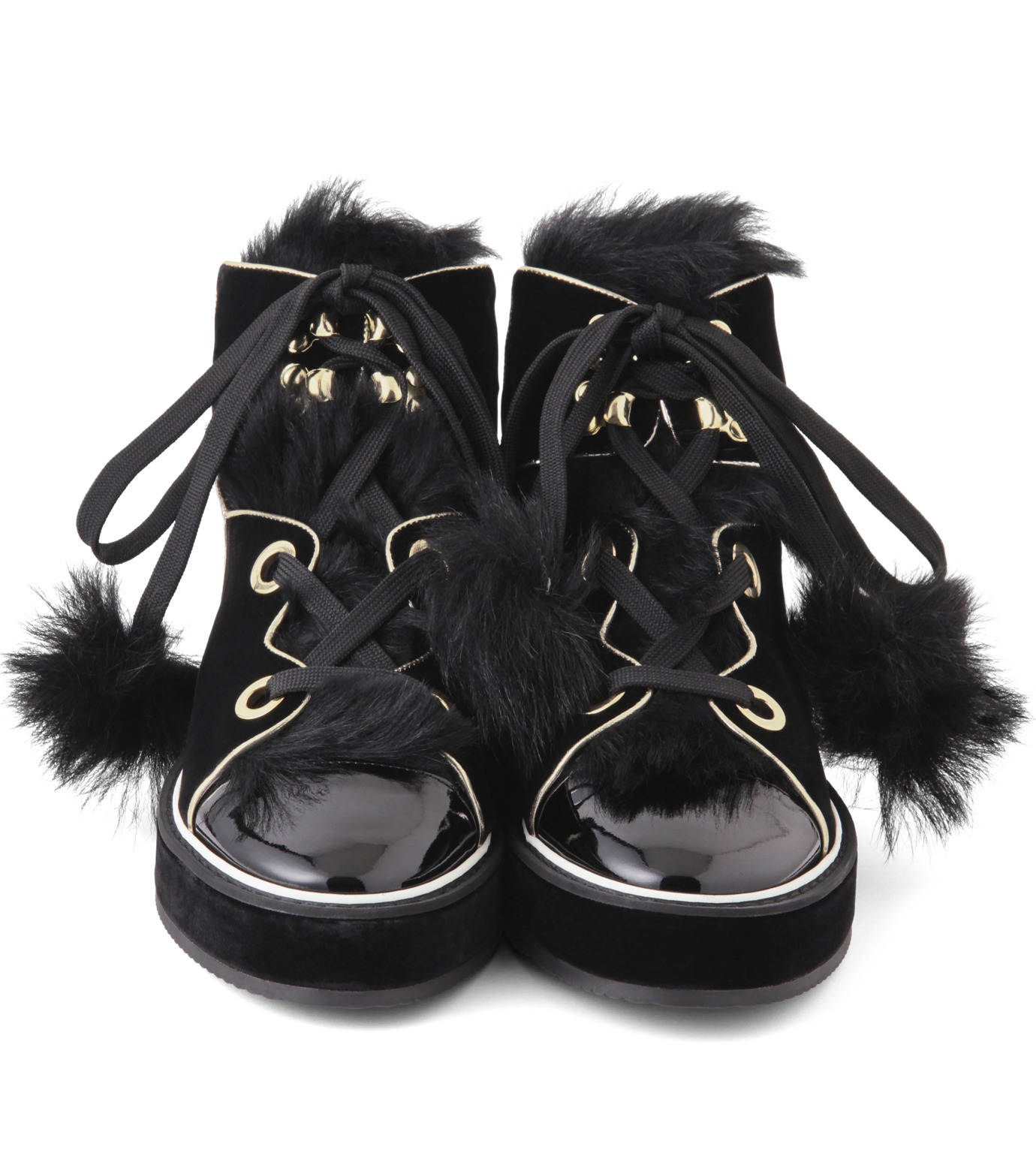 Nicholas  Kirkwood(ニコラス カークウッド)のPolly Neige High Top-BLACK(スニーカー/sneaker)-15AL161-13 拡大詳細画像4