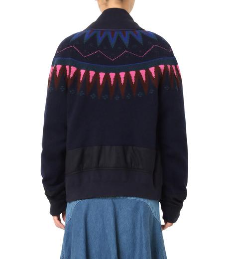 Sacai(サカイ)のFairisle Knit Blouson-NAVY(ニット/knit)-16-02726-93 詳細画像2