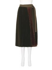 Sacai(サカイ) Pleated Wool Skirt