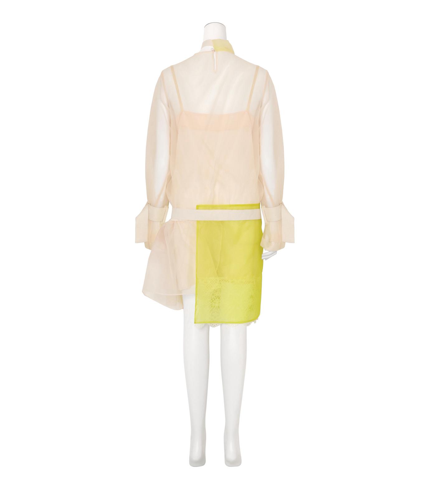 Sacai(サカイ)のSheer Dress w/Lace Detail-WHITE(ワンピース/one piece)-16-02840-5 拡大詳細画像2