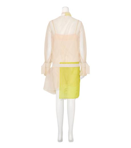 Sacai(サカイ)のSheer Dress w/Lace Detail-WHITE(ワンピース/one piece)-16-02840-5 詳細画像2