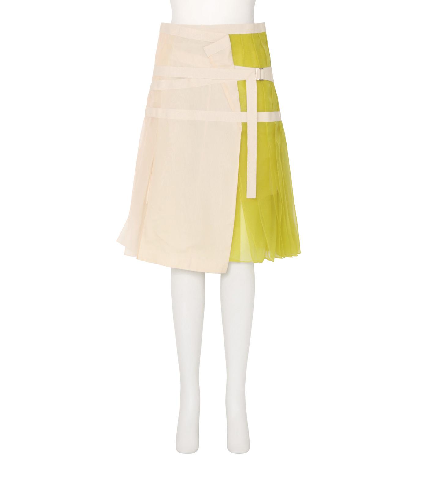 Sacai(サカイ)のSheer Panel Skirt-WHITE(スカート/skirt)-16-02843-5 拡大詳細画像1