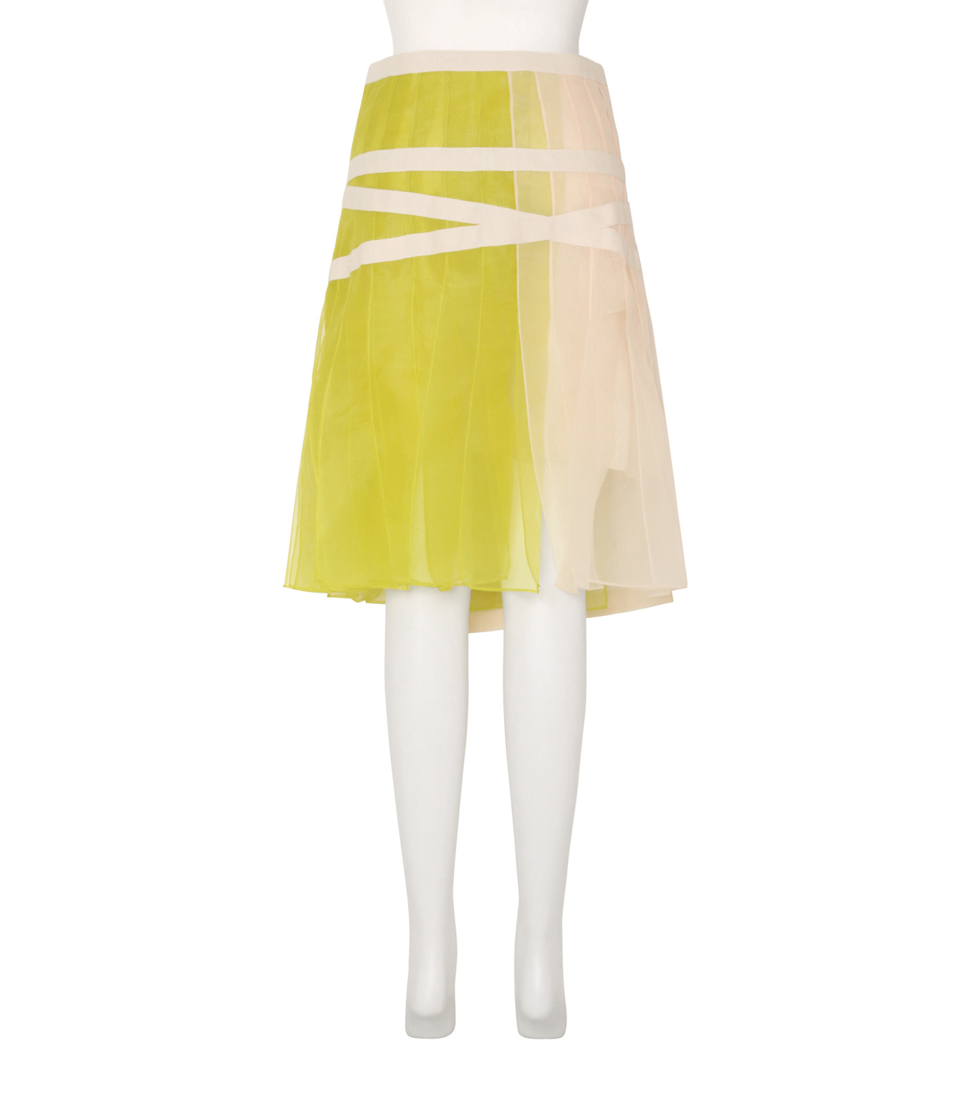 Sacai(サカイ)のSheer Panel Skirt-WHITE(スカート/skirt)-16-02843-5 拡大詳細画像2