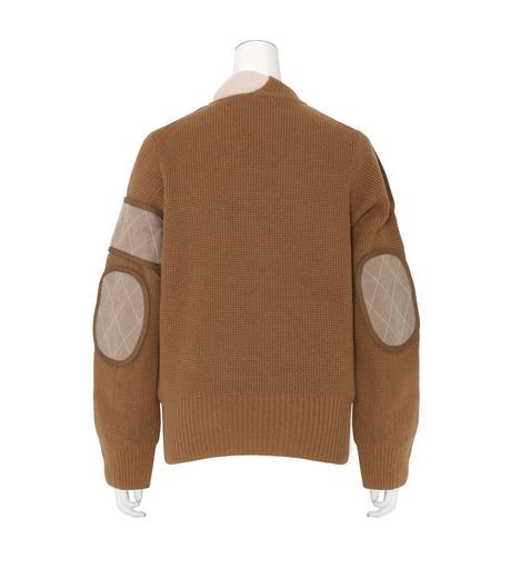 Sacai(サカイ)のLS Military Sweater w/Chiffon Scarf-CAMEL(ニット/knit)-16-02855-53 詳細画像2