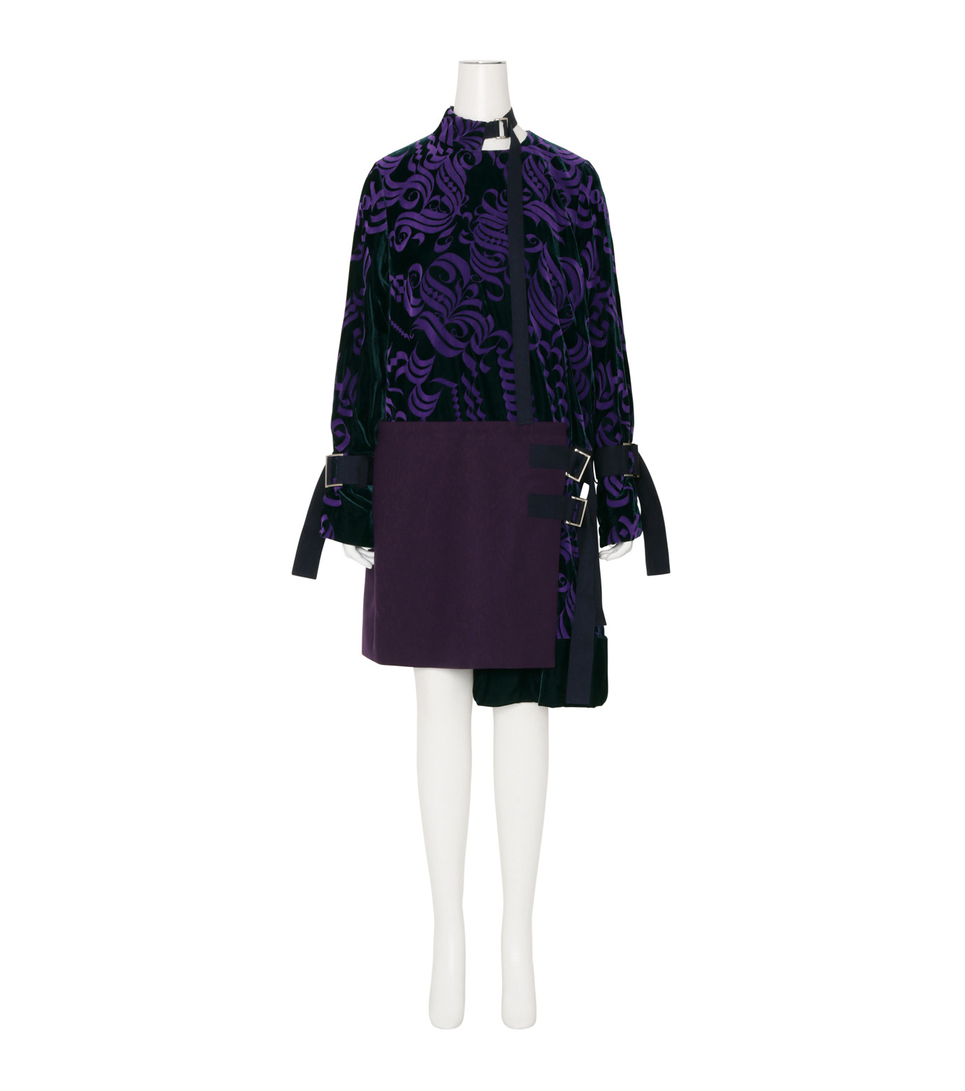 Sacai(サカイ)のVelvet Dress-PURPLE(ワンピース/one piece)-16-02877-82 拡大詳細画像1
