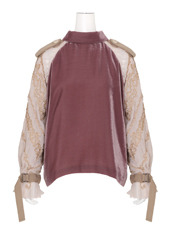 Sacai Velvet Highneck Top