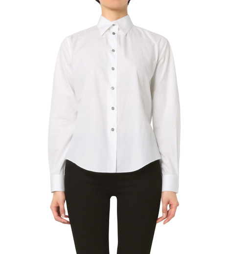Jourden(ジョーダン)のWhite Shirt w/Ruffle Back Slit-WHITE(シャツ/shirt)-1603WC1TH01-4 詳細画像1