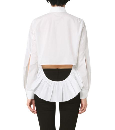 Jourden(ジョーダン)のWhite Shirt w/Ruffle Back Slit-WHITE(シャツ/shirt)-1603WC1TH01-4 詳細画像2