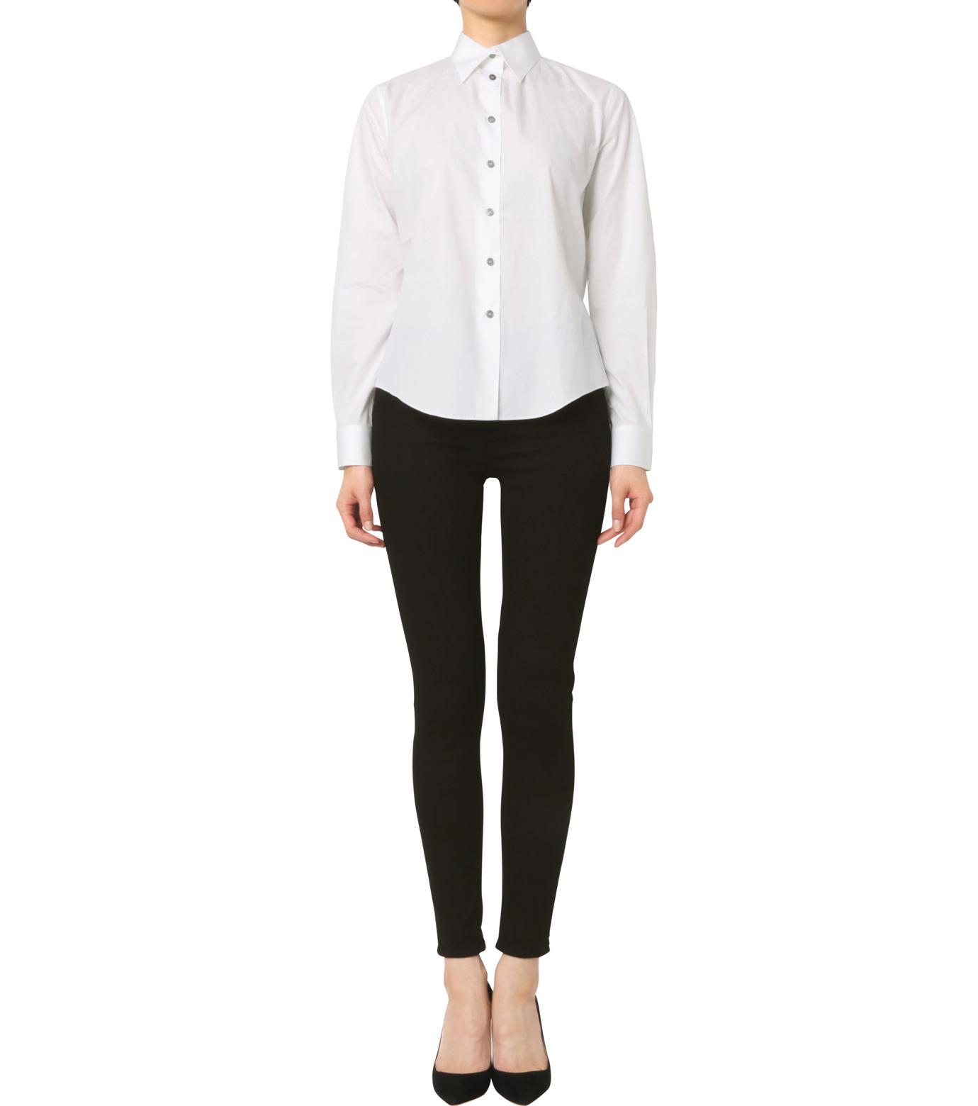 Jourden(ジョーダン)のWhite Shirt w/Ruffle Back Slit-WHITE(シャツ/shirt)-1603WC1TH01-4 拡大詳細画像3