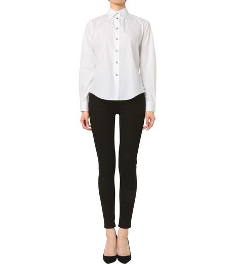 Jourden(ジョーダン)のWhite Shirt w/Ruffle Back Slit-WHITE(シャツ/shirt)-1603WC1TH01-4 詳細画像3