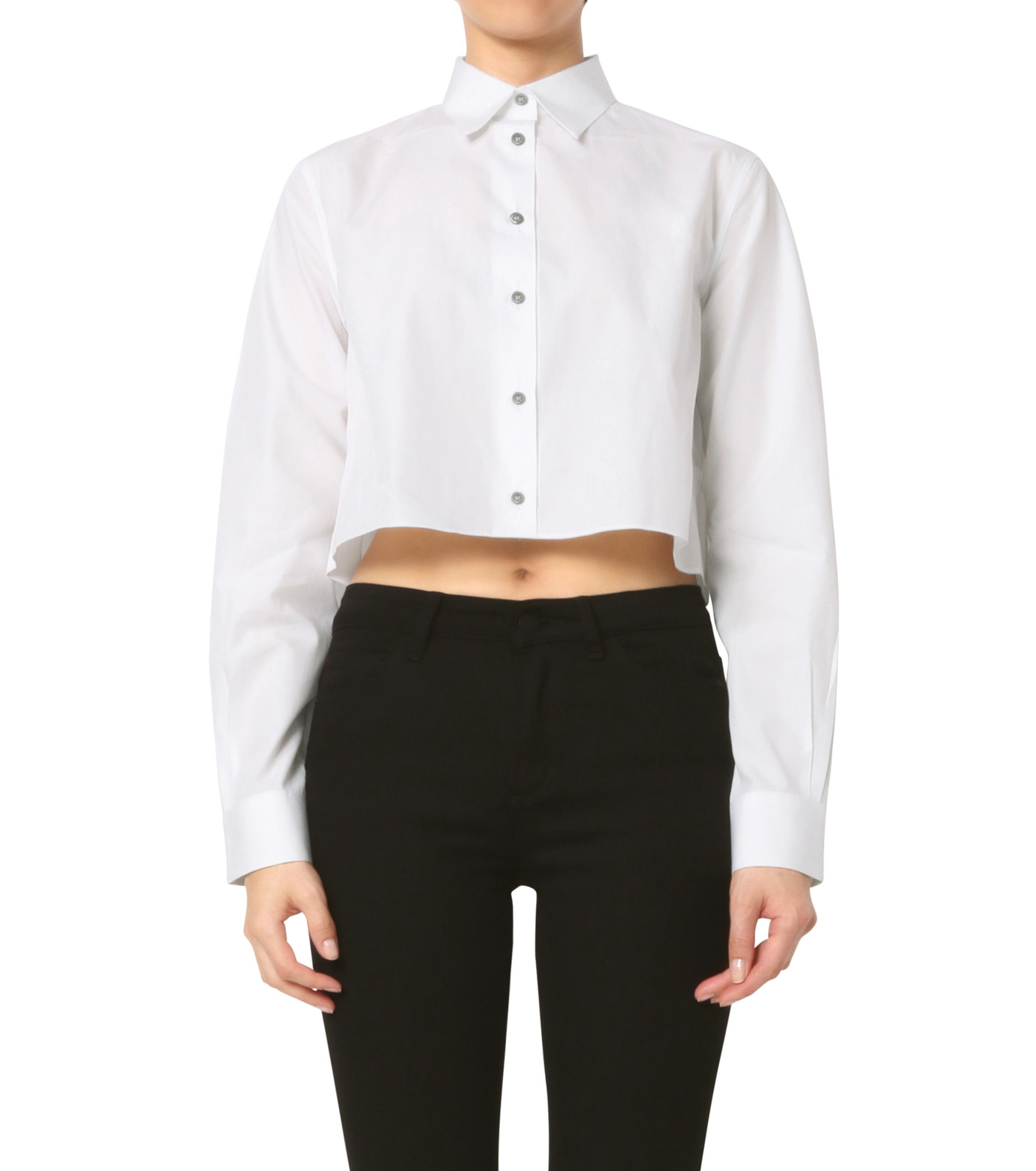 Jourden(ジョーダン)のWhite Cropped Shirt-WHITE(シャツ/shirt)-1603WC3TH01-4 拡大詳細画像1