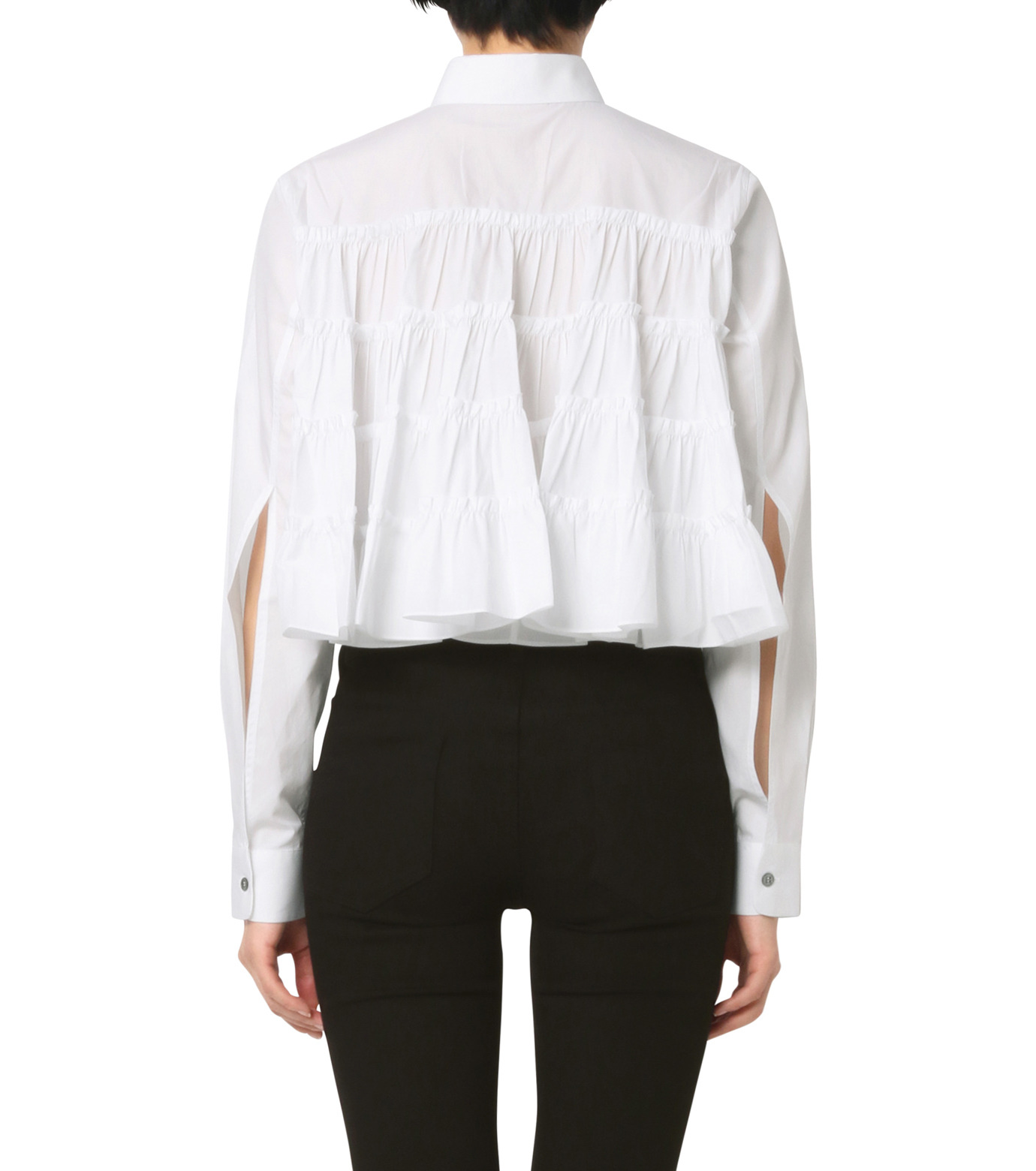 Jourden(ジョーダン)のWhite Cropped Shirt-WHITE(シャツ/shirt)-1603WC3TH01-4 拡大詳細画像2