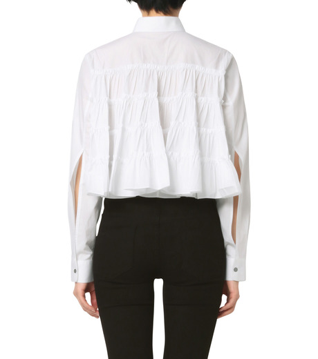 Jourden(ジョーダン)のWhite Cropped Shirt-WHITE(シャツ/shirt)-1603WC3TH01-4 詳細画像2
