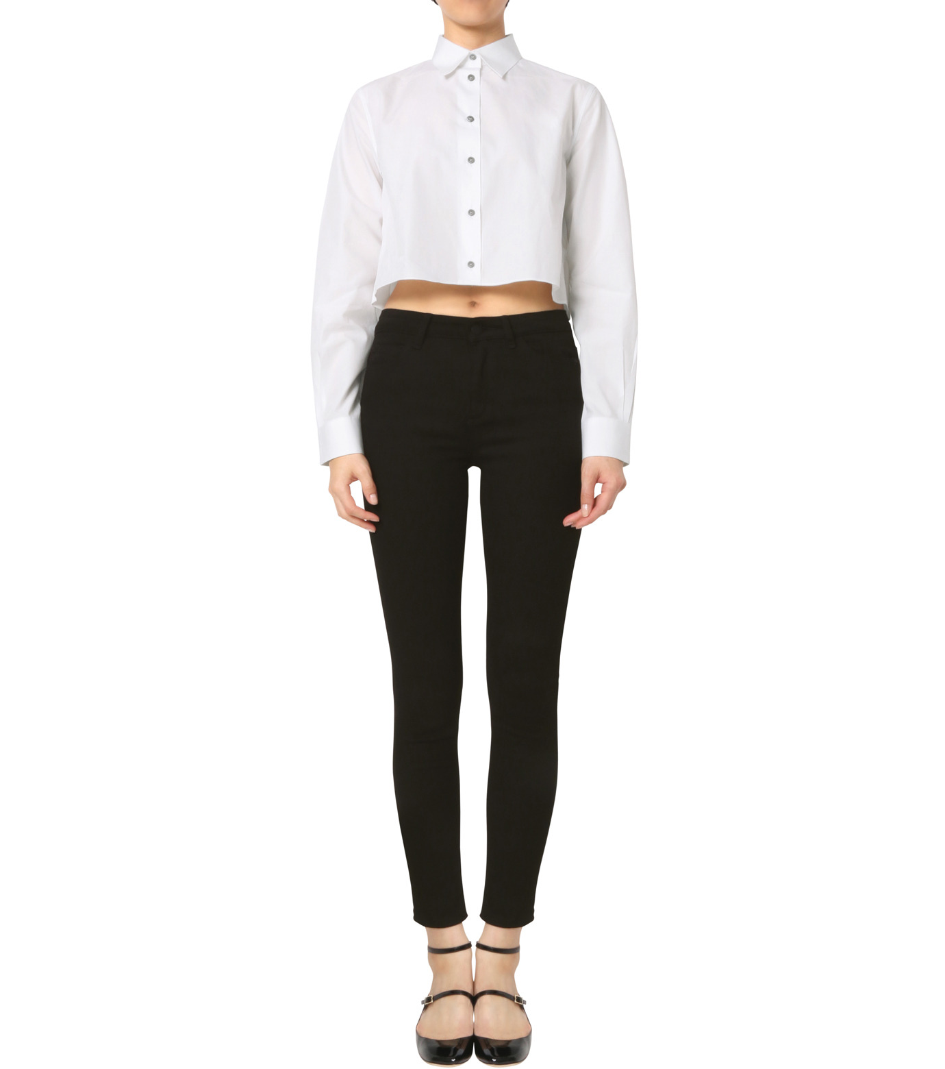 Jourden(ジョーダン)のWhite Cropped Shirt-WHITE(シャツ/shirt)-1603WC3TH01-4 拡大詳細画像3