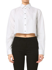 Jourden(ジョーダン) White Cropped Shirt