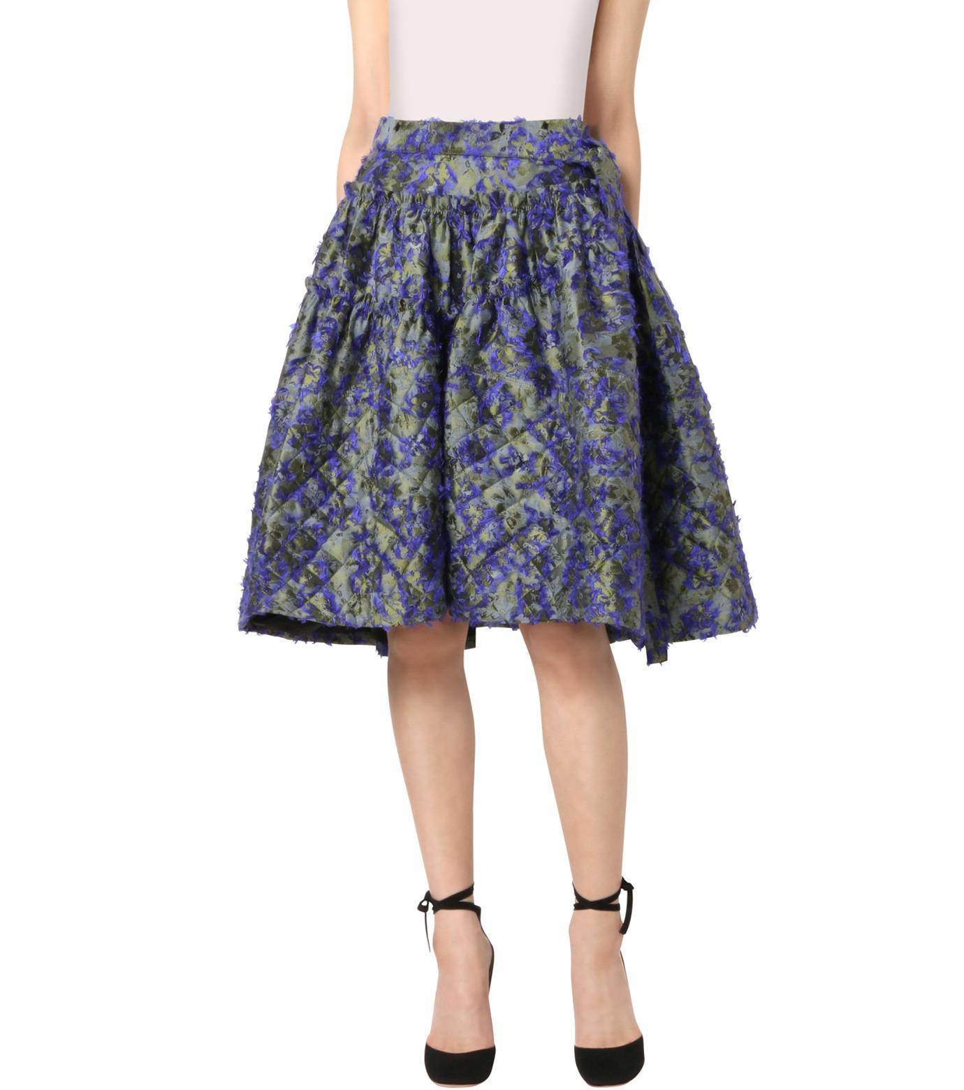 Jourden(ジョーダン)のCobalt Asym. Duvet Ruffle Skirt-BLUE(スカート/skirt)-1603WJ1JA03-92 拡大詳細画像1