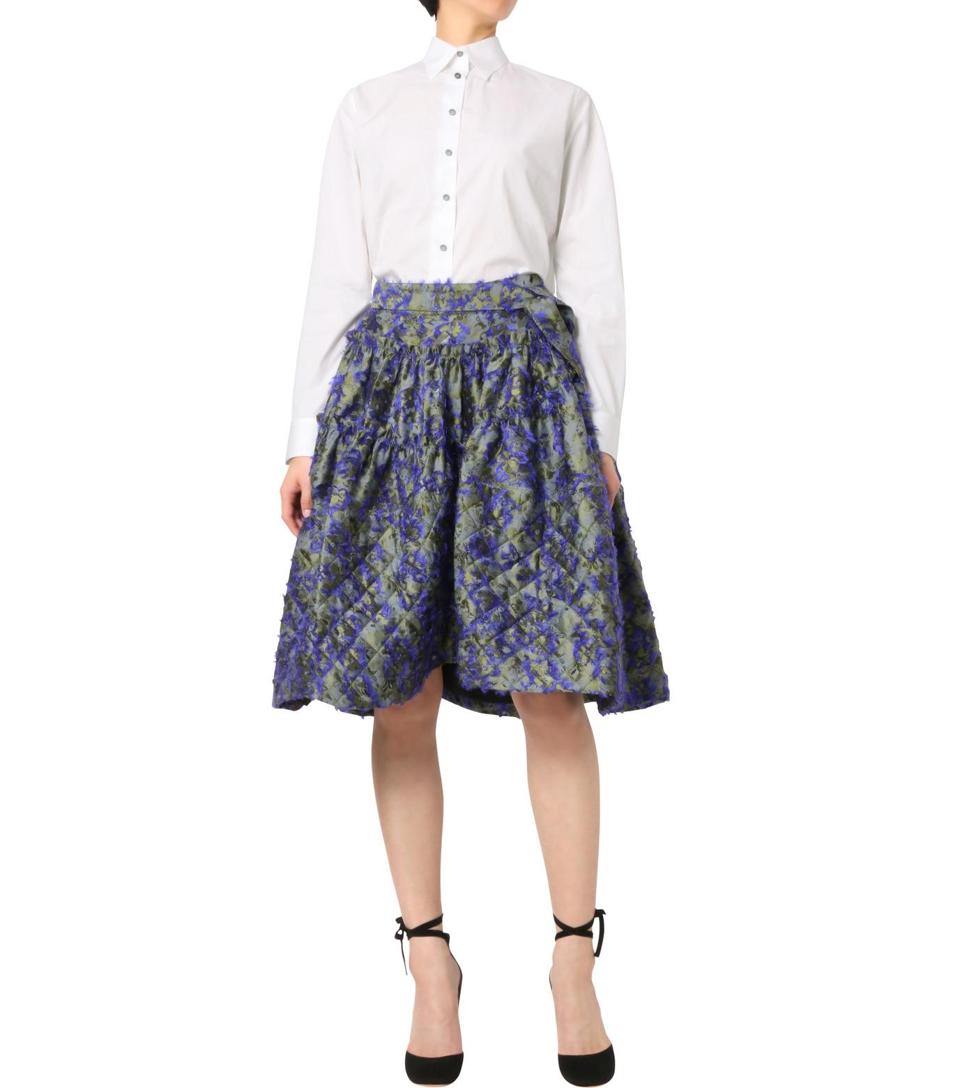 Jourden(ジョーダン)のCobalt Asym. Duvet Ruffle Skirt-BLUE(スカート/skirt)-1603WJ1JA03-92 拡大詳細画像3