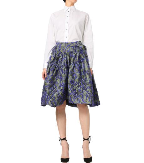 Jourden(ジョーダン)のCobalt Asym. Duvet Ruffle Skirt-BLUE(スカート/skirt)-1603WJ1JA03-92 詳細画像3