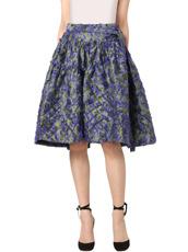 Jourden(ジョーダン) Cobalt Asym. Duvet Ruffle Skirt