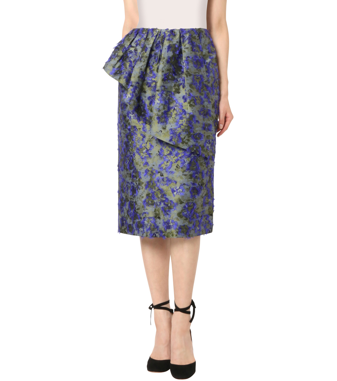Jourden(ジョーダン)のCobalt Pencil Skirt-BLUE(スカート/skirt)-1603WJ3JA03-92 拡大詳細画像1