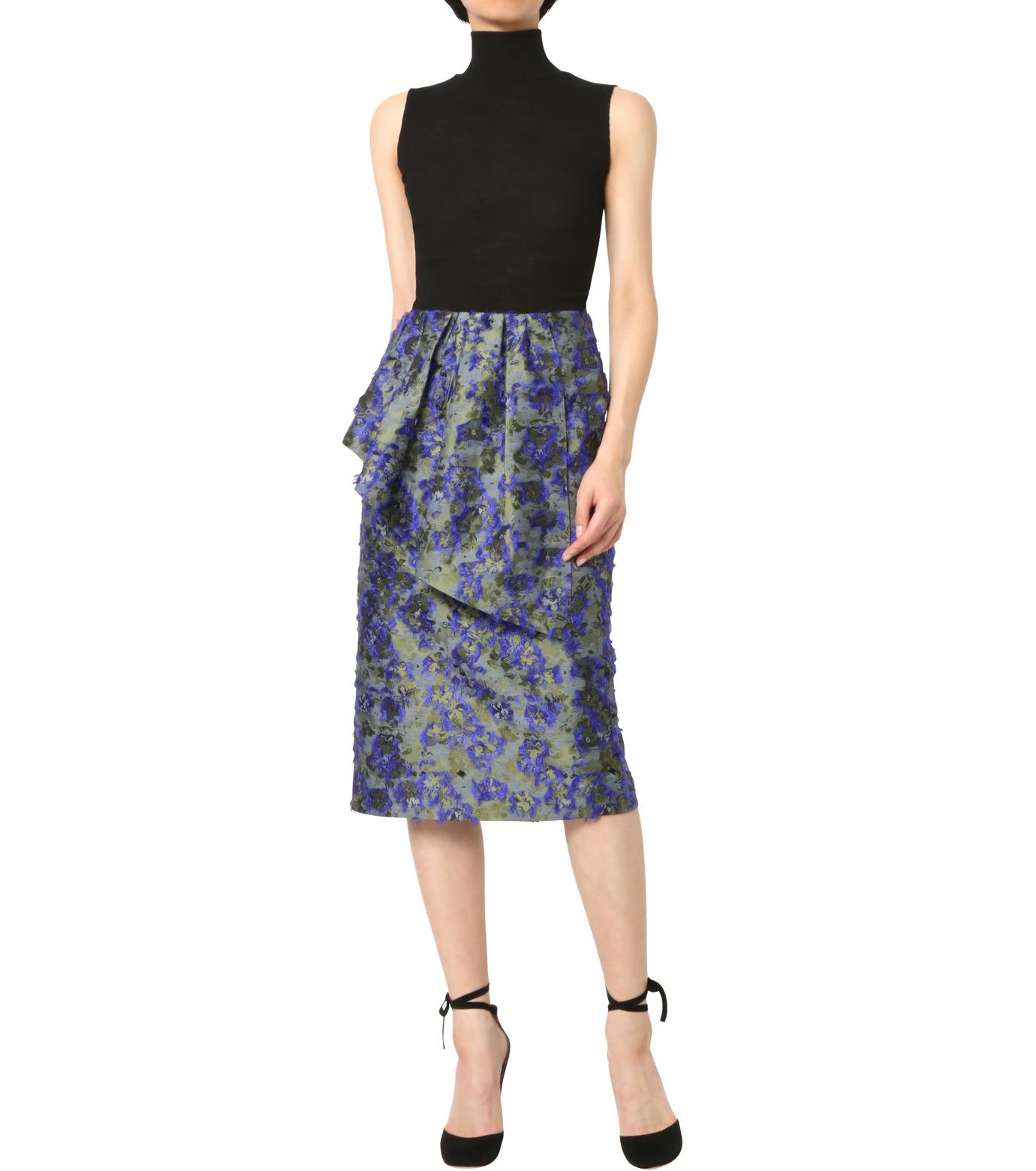 Jourden(ジョーダン)のCobalt Pencil Skirt-BLUE(スカート/skirt)-1603WJ3JA03-92 拡大詳細画像3