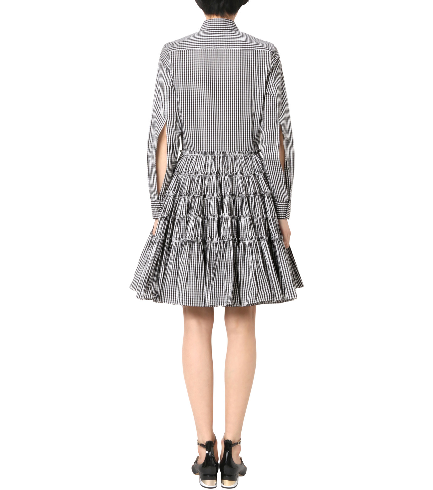 Jourden(ジョーダン)のBlack&White Gingham Shirt Dress-BLACK(ワンピース/one piece)-1603WR2TH03-13 拡大詳細画像2