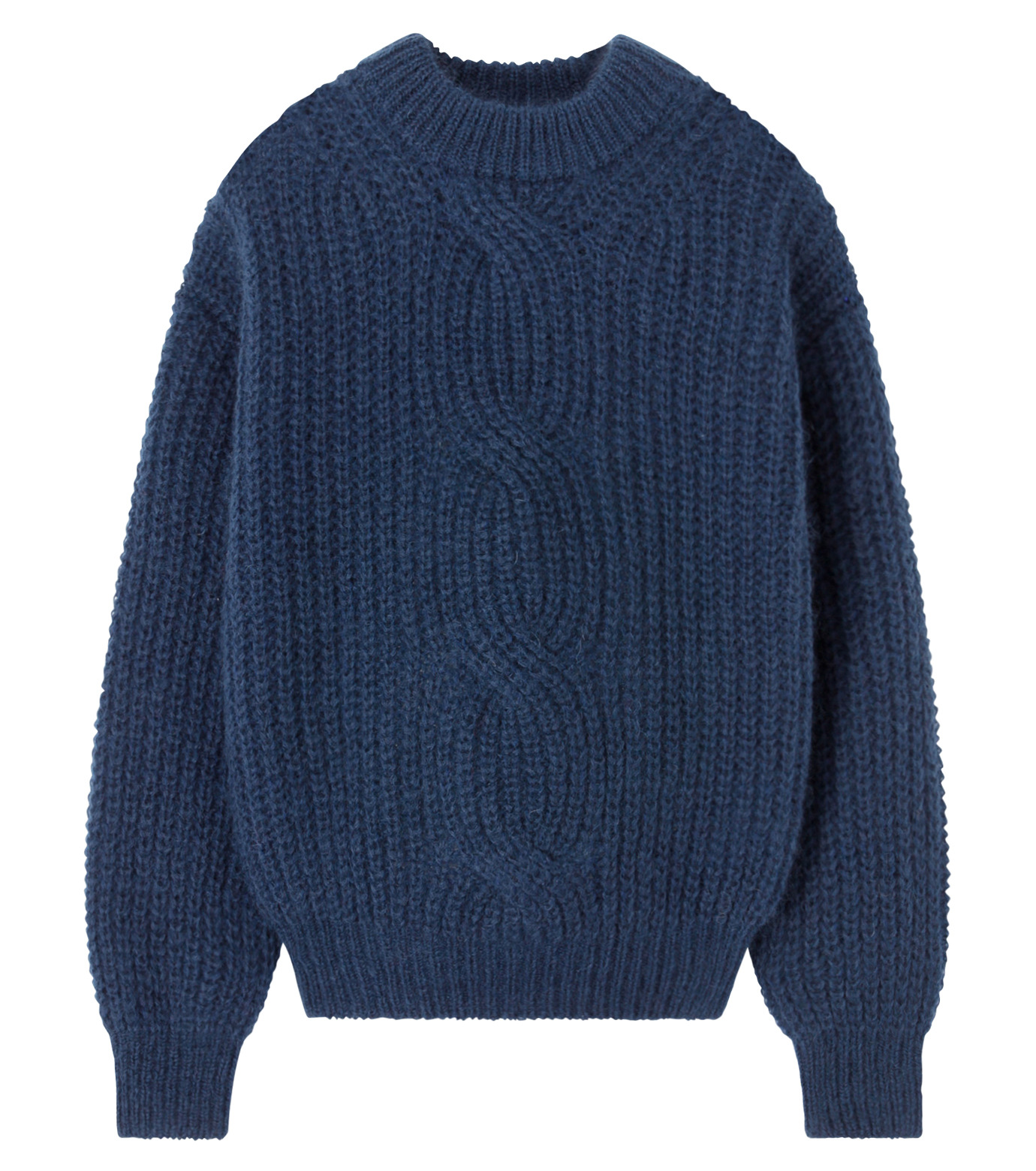 LE CIEL BLEU(ルシェルブルー)のケーブルニット-NAVY(ニット/トップス/knit/tops)-16A61051 拡大詳細画像1