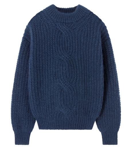 LE CIEL BLEU(ルシェルブルー)のケーブルニット-NAVY(ニット/トップス/knit/tops)-16A61051 詳細画像1