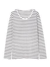LE CIEL BLEU ボーダークルーネック長袖Tシャツ by Essentials