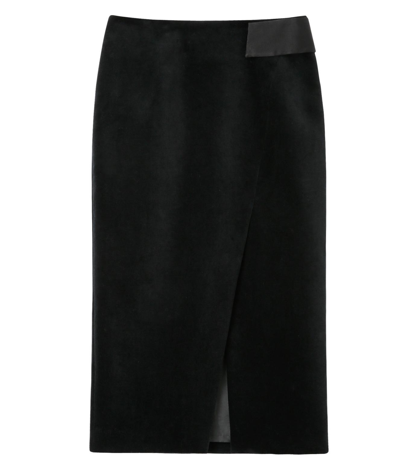 LE CIEL BLEU(ルシェルブルー)のベルベティーンスカート-BLACK-16A67036 拡大詳細画像1
