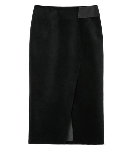 LE CIEL BLEU(ルシェルブルー)のベルベティーンスカート-BLACK-16A67036 詳細画像1