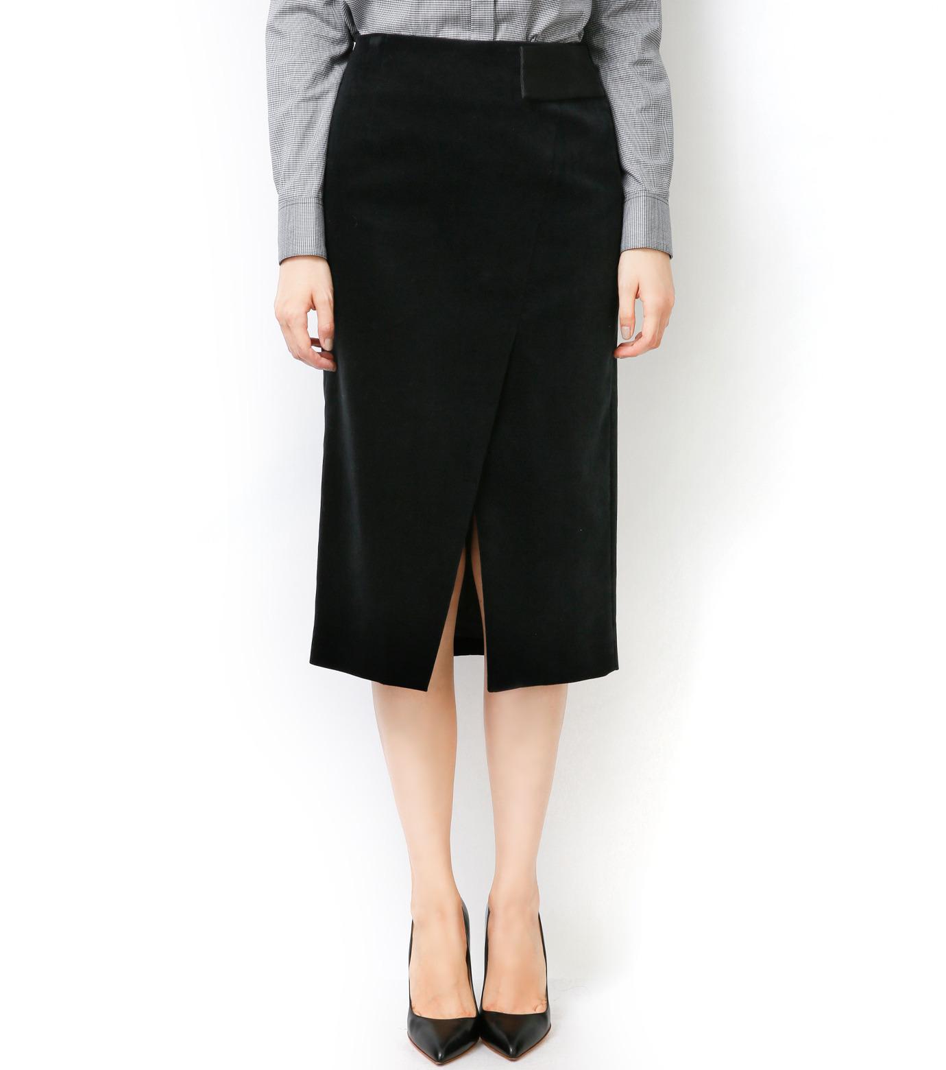 LE CIEL BLEU(ルシェルブルー)のベルベティーンスカート-BLACK-16A67036 拡大詳細画像3