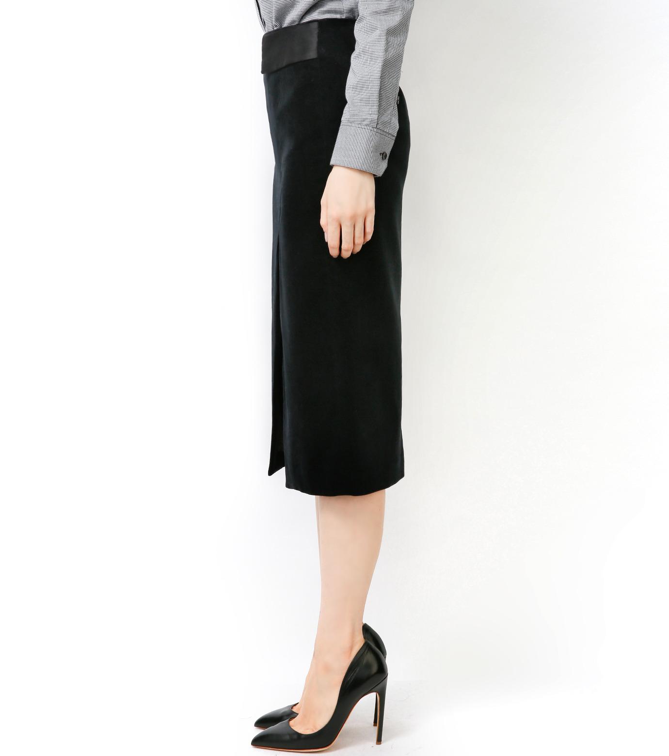 LE CIEL BLEU(ルシェルブルー)のベルベティーンスカート-BLACK-16A67036 拡大詳細画像4