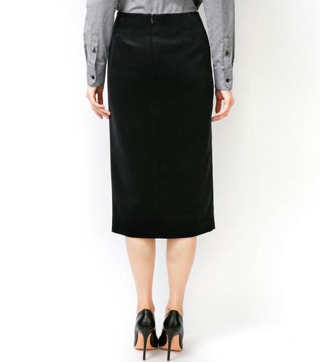 LE CIEL BLEU(ルシェルブルー)のベルベティーンスカート-BLACK-16A67036 詳細画像5