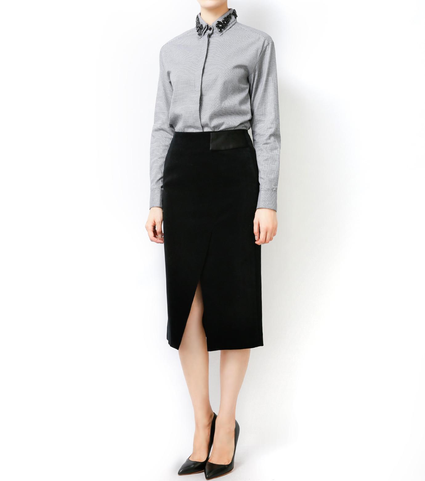 LE CIEL BLEU(ルシェルブルー)のベルベティーンスカート-BLACK-16A67036 拡大詳細画像6