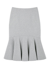 LE CIEL BLEU ペプラムスウェットスカート